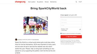 Petition · Fuel Industries: Bring SparkCityWorld back · Change.org