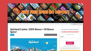 Spinland Casino: 20 Free Spin No Deposit in Netent Slots!
