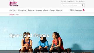 Sport and fitness | Sheffield Hallam University