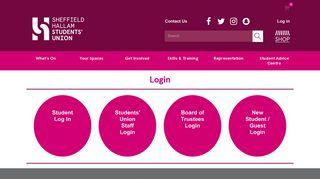Login - Sheffield Hallam Students' Union