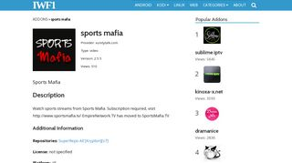sports mafia | IWF1