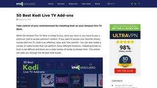 50 Best Kodi Live TV Add-ons - VPN Vanguard