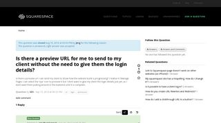 Is there a preview URL for me to send to my client without the ...