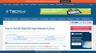 How to Find All Failed SSH login Attempts in Linux - Tecmint