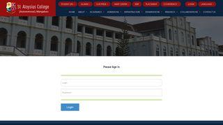 St Aloysius College staloysiuscollege.co.in › login