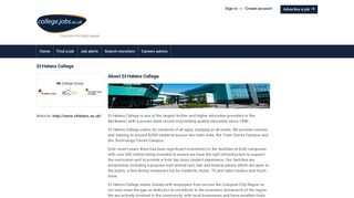 Jobs with St Helens College | college.jobs.ac.uk