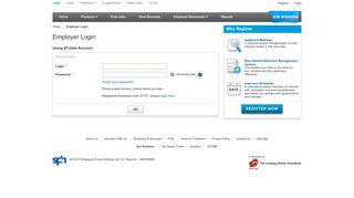 Employer Login | STJobs - Singapore Press Holdings Ltd