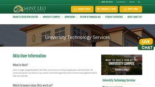 Okta User Information | Saint Leo University