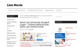 Saint Leo University Student Login – Online.SaintLeo.Edu Saint Leo ...