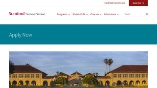 Apply Now | Stanford Summer Session