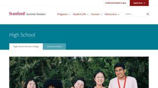 High School Summer College | Stanford Summer Session