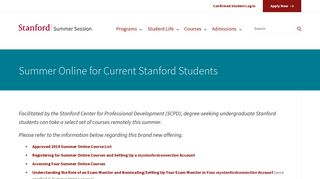 Summer Online for Current Stanford Students | Stanford Summer ...