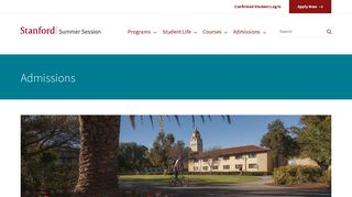 Admissions | Stanford Summer Session