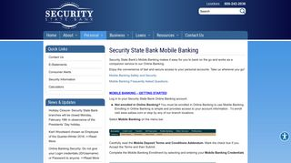 Mobile Banking - Security State Bank