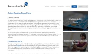 Online Banking Users Guide › Farmers State Bank