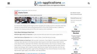 State Farm Application, Jobs & Careers Online - Job-Applications.com
