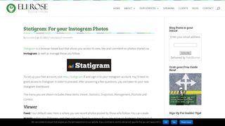 Statigram - An Instagram Photo Management Tool