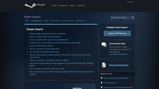 Steam Guard - Account Recovery - Knowledge Base - Steam Support
