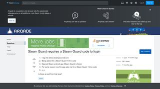 Steam Guard requires a Steam Guard code to login - Arqade