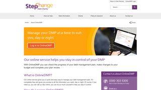 OnlineDMP - Log in & Manage Your StepChange DMP Online.