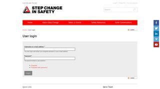 User login | Step Change in Safety