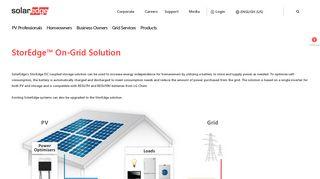 StorEdge™ On-Grid Solution | SolarEdge | A World Leader in Smart ...