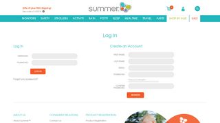 Log In - Summer Infant - Baby Products