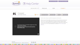 Connect - Summer Infant Help Center