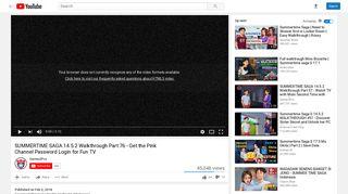 SUMMERTIME SAGA 14.5.2 Walkthrough Part 76 - Get the ... - YouTube
