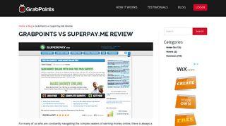 GrabPoints vs SuperPay.Me Review - GrabPoints
