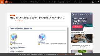 How To Automate SyncToy Jobs in Windows 7 - groovyPost