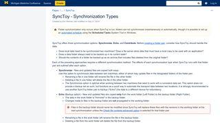 SyncToy - Synchronization Types - Knowledgebase - Michigan ...
