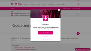 Rebate and promotional cards | T-Mobile Support