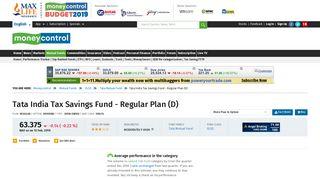 Tata India Tax Savings Fund - Regular Plan (D) [63.742] | Tata Mutual ...