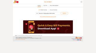 Postpaid Mobile Bill Payment Online - Tata Docomo