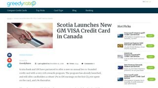 Scotia Launches New GM VISA Credit Card in Canada - GreedyRates