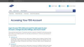 TDS My Account Portal - TDS Telecom