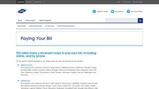 TDS Online Bill Payment Portal - TDS Telecom