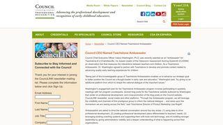 Council CEO Named Teachstone Ambassador - Council for ...