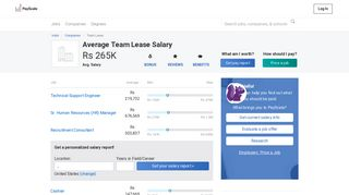 Average Team Lease Salary - PayScale