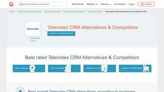 Telenotes CRM Alternatives & Competitors | G2 Crowd