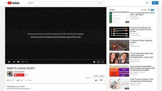 REMOTE LOGIN & TELNET ... - YouTube