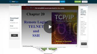 Remote Login: TELNET and - ppt video online download - SlidePlayer