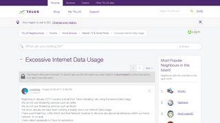 Solved: Excessive Internet Data Usage - TELUS Neighbourhood