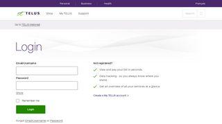 My TELUS - Log in to manage your TELUS account | TELUS