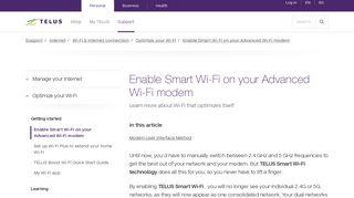 Enable Smart Wi-Fi on your Advanced Wi-Fi modem - Telus