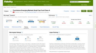 TEMAX - Touchstone Emerging Markets Small Cap Fund Class A ...
