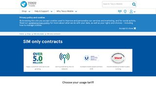 SIM Only Contracts | Pay monthly Phones | Tesco Mobile