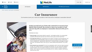 Car Insurance | MetLife
