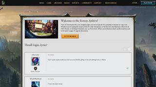 Thresh login..lyrics? - League of Legends Community